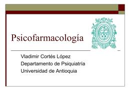 Psicofarmacología - Departamento de Bibliotecas Universidad de