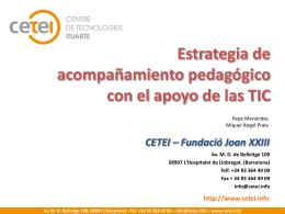 El CETEI: Centre de desenvolupament comunitari mitjançant les TIC