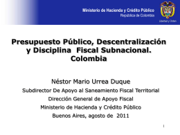 Nestor Urrea - Subdirector de Apoyo al Saneamiento Fiscal