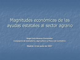 Magnitudes económicas de las ayudas estatales al