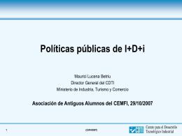 2. Políticas de apoyo a la I+D+i empresarial