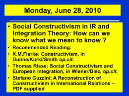 AAA 14) Social Constructivism vs. Positivism