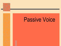 passive voice notes