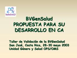 0BJETIVOS - Biblioteca Virtual en Salud Género y Salud