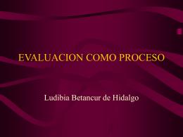 Evaluación como proceso