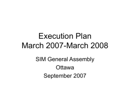 Execution Plan 2007