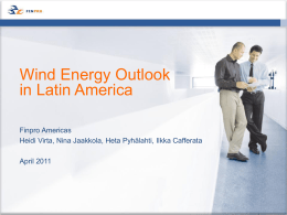 Wind Energy Outlook in Latin America
