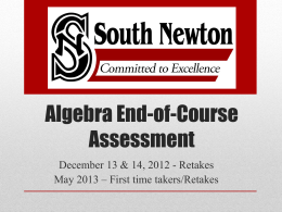 Algebra ECA Test Prep