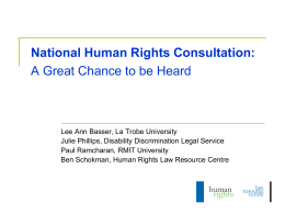 Disability Organisations - Human Rights Law Centre