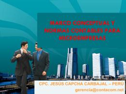 Marco conceptual y normas contables para