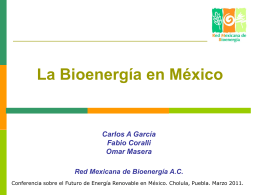 La Red Mexicana de Bioenergía