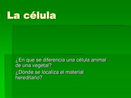 La célula - anaelistasnaturistas