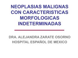 neoplasias malignas con caracteristicas morfologicas indeterminadas