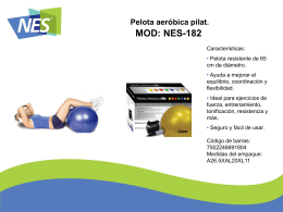 MOD: NES-182 Pelota aeróbica pilat.