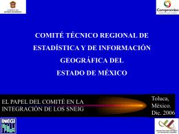 Estadística Geografía Unidades Productoras de Información