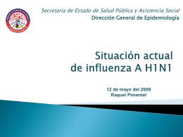 1- Presentación Vigilancia intensificada influenza A H1N1 Taller