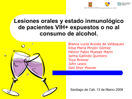 Alcohol, VIH y lesiones orales