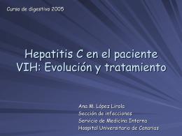 Hepatitis C en el paciente coinfectado por VIH