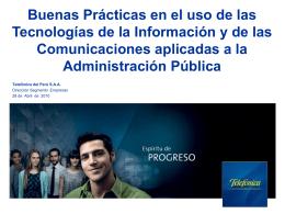 Buenas prácticas usando TIC en la Administración Pública