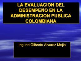 LA EVALUACION DEL DESEMPEÑO EN EL ESTADO COLOMBIANO