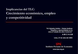 Coyuntura y Perspectivas de Corto Plazo de la Economía Peruana