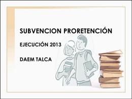 Subvención Pro Retención 2013