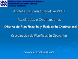 (PE) y el Plan Operativo Institucional (POAI)