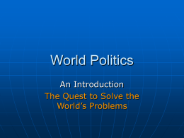 World Politics