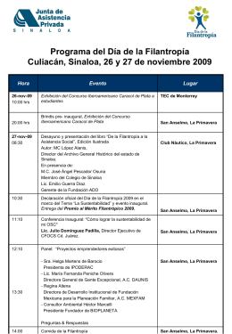 Proyecto de Programa del Día de la filantropía 2004