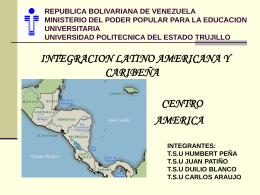 Centroamérica. Costa Rica, El Salvador, Guatemala, Honduras
