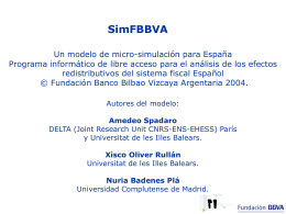 2ª parte: El modelo de microsimulación SimFBBVA