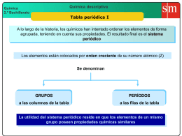 1 y 2 y 3 Tabla periódica
