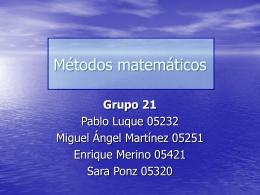 Métodos matemáticos2