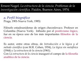 Ernest Nagel. La estructura de la ciencia. Problemas de la