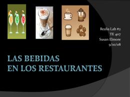 Las bebidas en los restaurantes