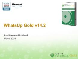 WhatsUp Gold v14.1 and WhatsConfigured v1.0