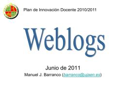 Weblogs - Servicio de Blogs