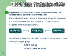 ERGONOMIA Y PRODUCTIVIDAD