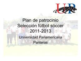 Plan de patrocinio Selección fútbol sóccer 2011-2012