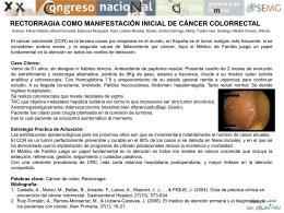 rectorragia como manifestación inicial de cáncer colorrectal