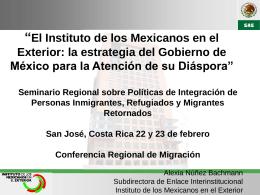 México, Lic. Alexia Núñez Bachmann, Instituto de los Mexicanos en