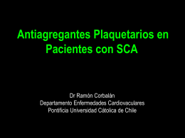 and Prasugrel - Cardiología de la Universidad Católica