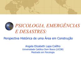 PSICOLOGIA E DESASTRES: