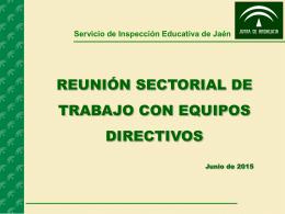 Reunión sectorial Junio de 2015