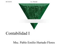 Contabilidad I - Prof. Pablo Emilio Hurtado