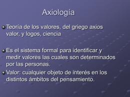 Axiología