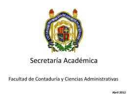 Secretaría Académica - Facultad de Contaduría y Ciencias