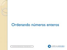 Números enteros y recta numérica