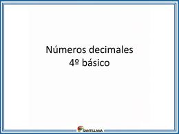 Adición con números decimales 4º básico