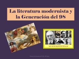 La literatura modernista y la Generación del 98